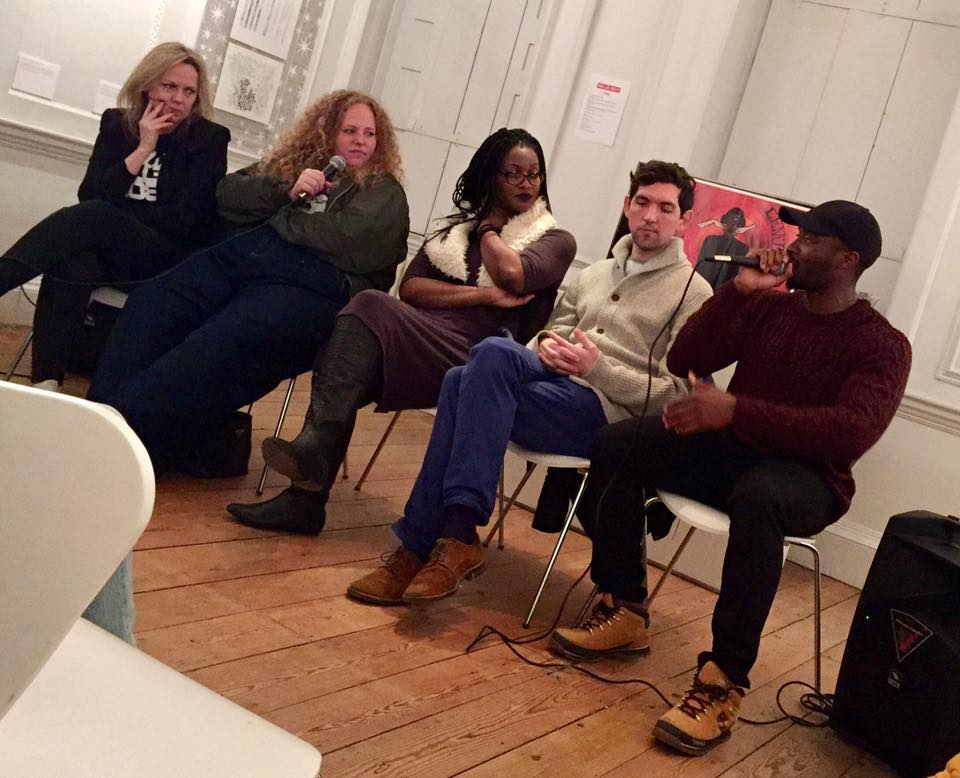 Hattie Collins, Olivia Rose, Monique Charles, Daniel Baker and Lemzi in conversation